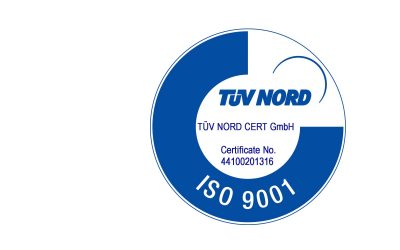 Successful certification for compliance with ISO 9001: 2015