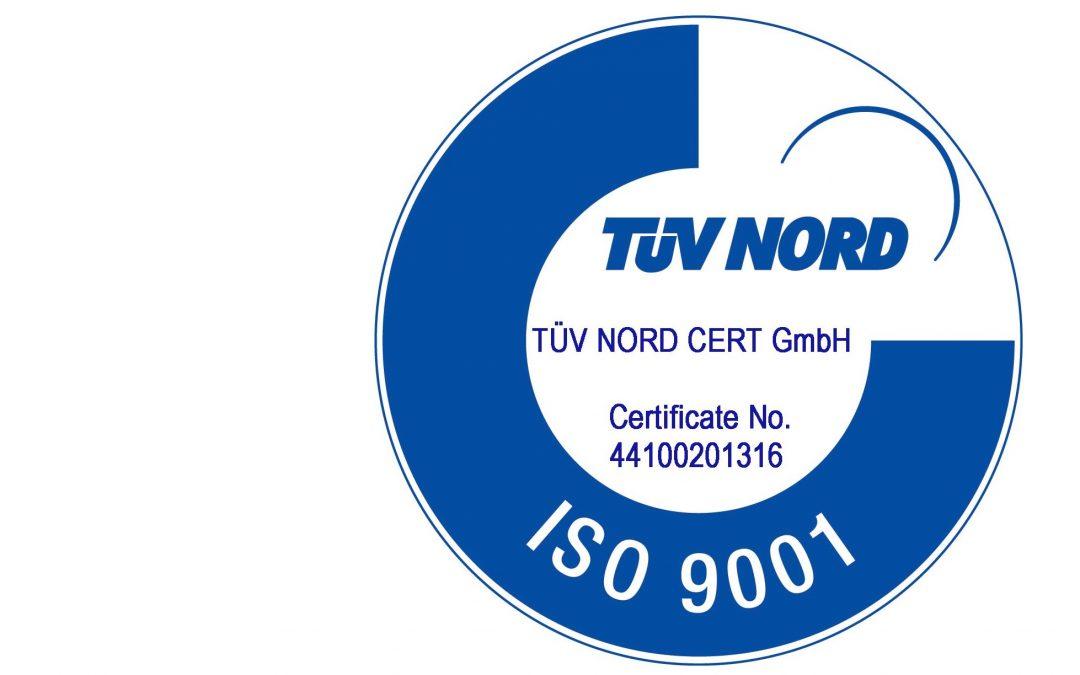 Успешная сертификация на соответствие стандарту ISO 9001:2015
